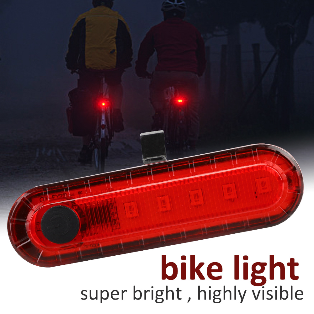 COB-LED-Bicycle-Bike-Cycling-Rear-Tail-Light-USB-Rechargeable-4-Modes-Lamp-ZH miniature 11
