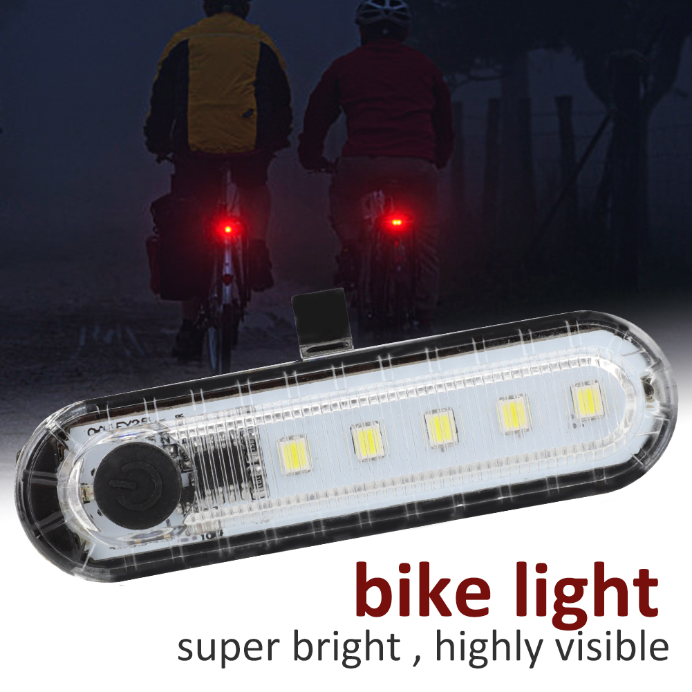 COB-LED-Bicycle-Bike-Cycling-Rear-Tail-Light-USB-Rechargeable-4-Modes-Lamp-ZH miniature 14