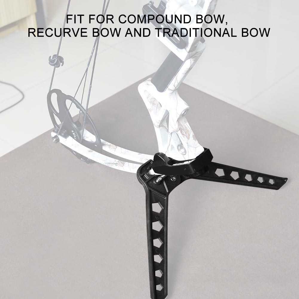 Black-3D-Target-Hunting-Compound-Bows-Support-Rack-Archery-Bow-Stand-Holder-Legs thumbnail 23