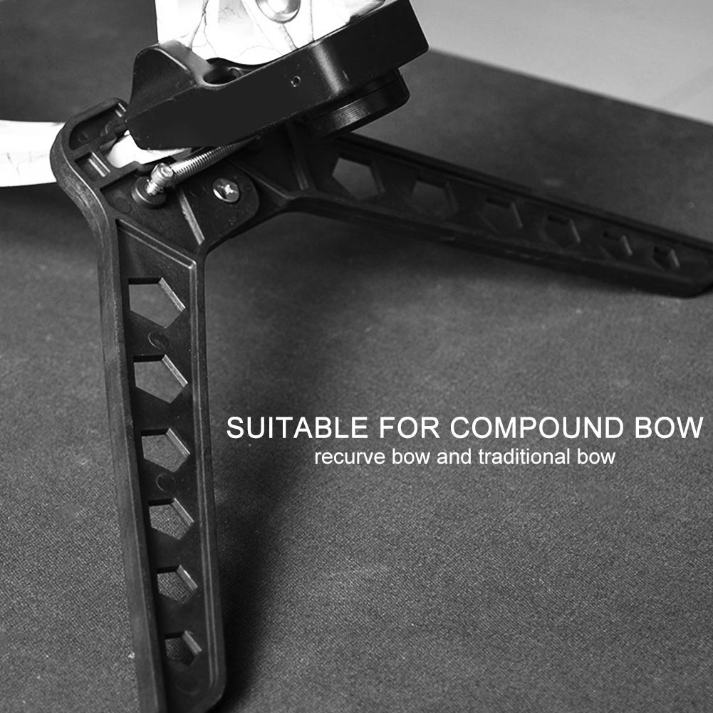 Black-3D-Target-Hunting-Compound-Bows-Support-Rack-Archery-Bow-Stand-Holder-Legs thumbnail 24