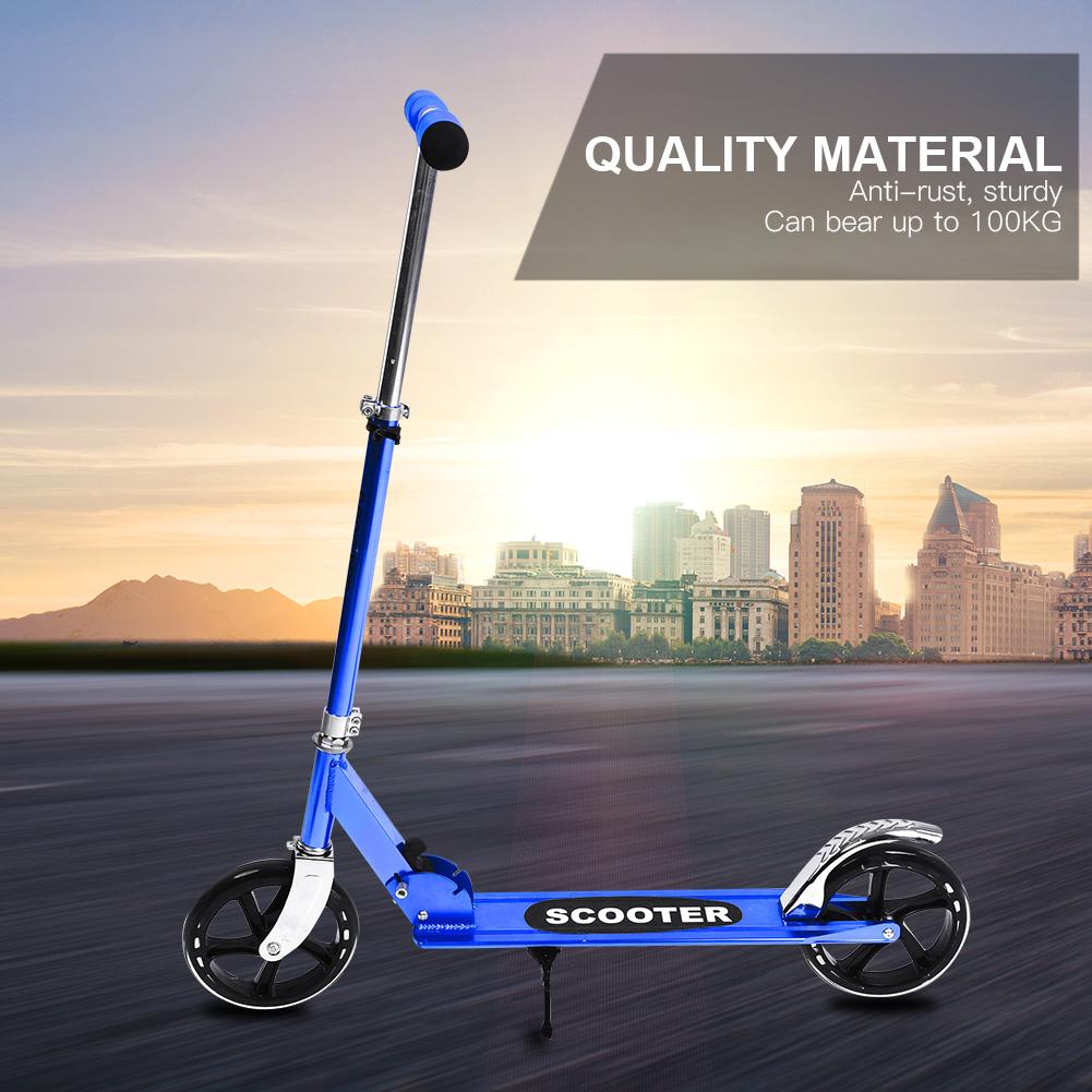 New-Folding-200mm-Big-Wheels-Suspension-Adult-Shock-absorbing-Scooter-Disc-Brake thumbnail 17