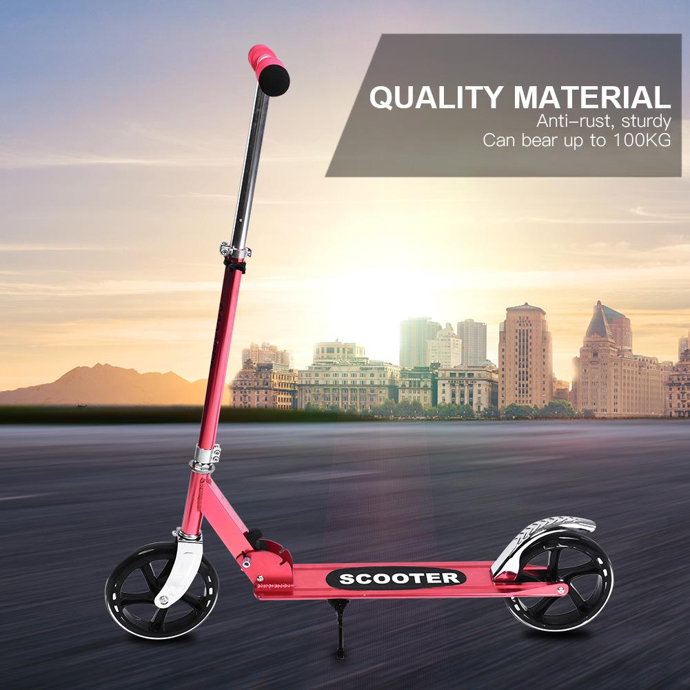 New-Folding-200mm-Big-Wheels-Suspension-Adult-Shock-absorbing-Scooter-Disc-Brake thumbnail 20