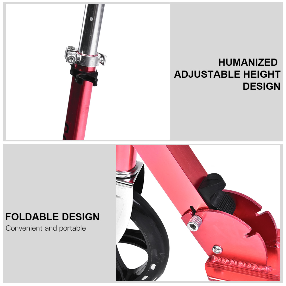 New-Folding-200mm-Big-Wheels-Suspension-Adult-Shock-absorbing-Scooter-Disc-Brake thumbnail 21