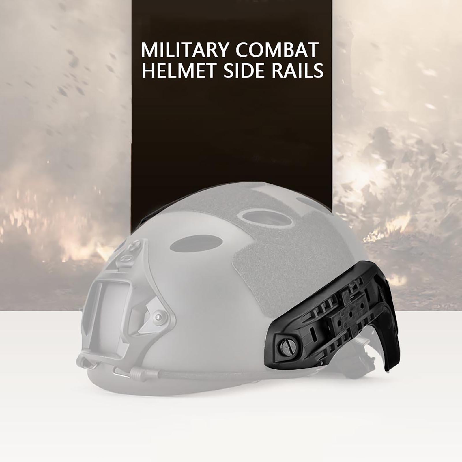 1Pair-Helmet-Side-Rails-for-Flashlight-Camera-Attachments-W-Mounting-Screws-Kit thumbnail 14