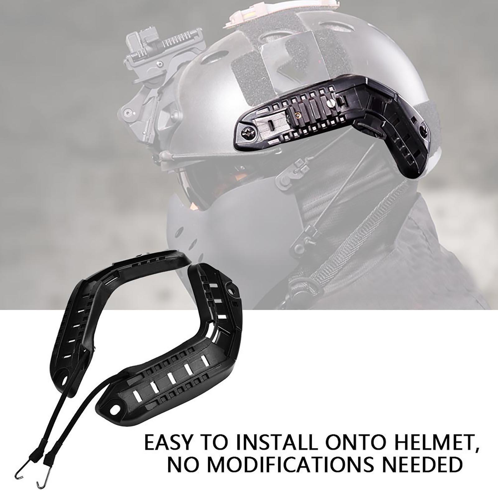 1Pair-Helmet-Side-Rails-for-Flashlight-Camera-Attachments-W-Mounting-Screws-Kit thumbnail 15