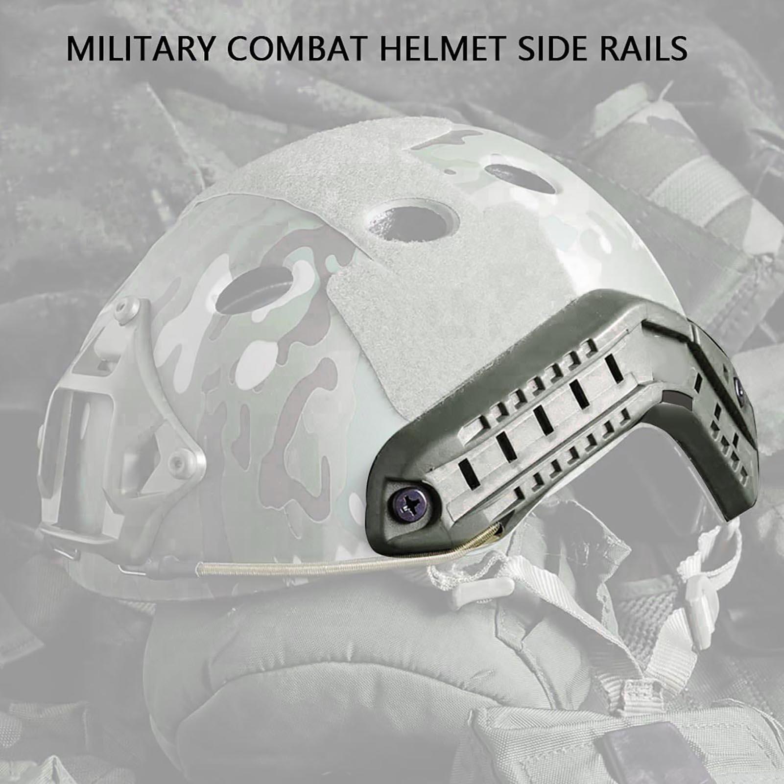 1Pair-Helmet-Side-Rails-for-Flashlight-Camera-Attachments-W-Mounting-Screws-Kit thumbnail 17