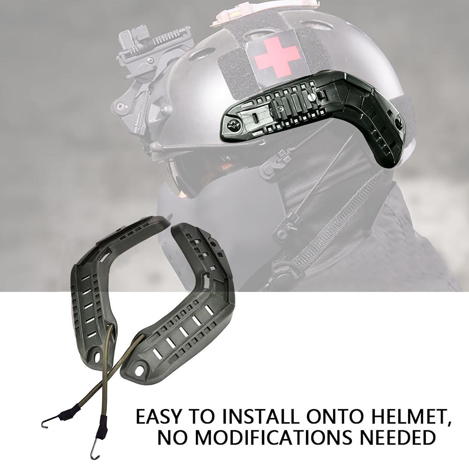 1Pair-Helmet-Side-Rails-for-Flashlight-Camera-Attachments-W-Mounting-Screws-Kit thumbnail 18
