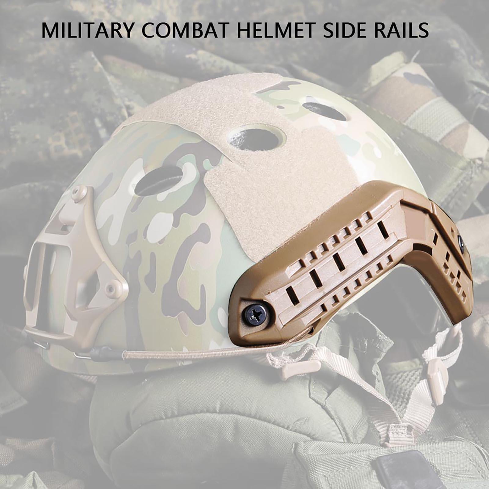 1Pair-Helmet-Side-Rails-for-Flashlight-Camera-Attachments-W-Mounting-Screws-Kit thumbnail 20