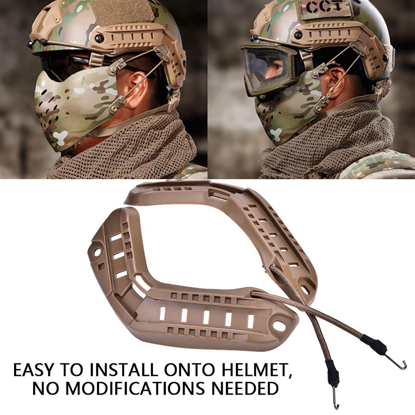 1Pair-Helmet-Side-Rails-for-Flashlight-Camera-Attachments-W-Mounting-Screws-Kit thumbnail 21