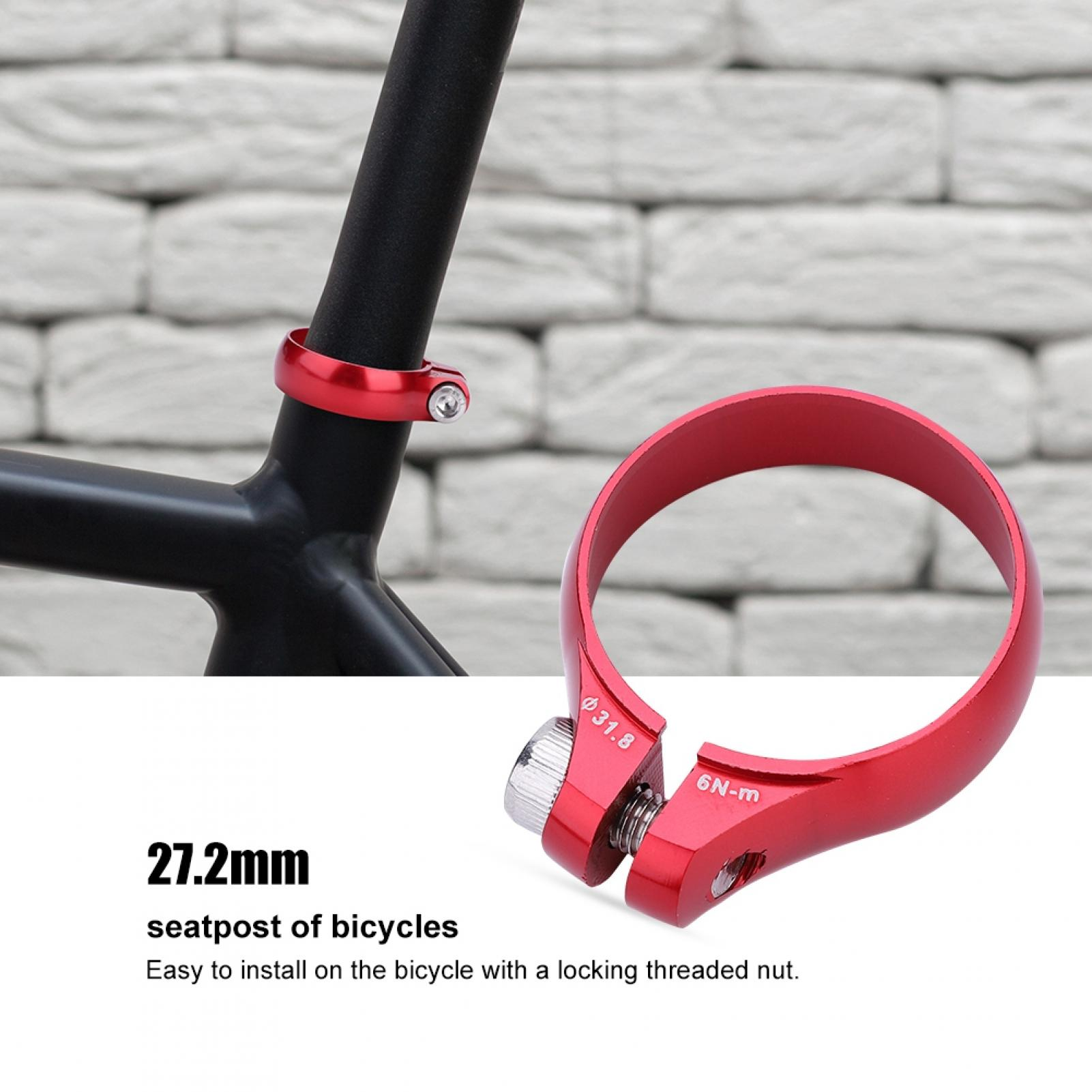 MTB Mountain Bike Bolt Seatpost Clamp 31.8//34.9MM For 27.2//30.8//31.6mm Seat Pipe