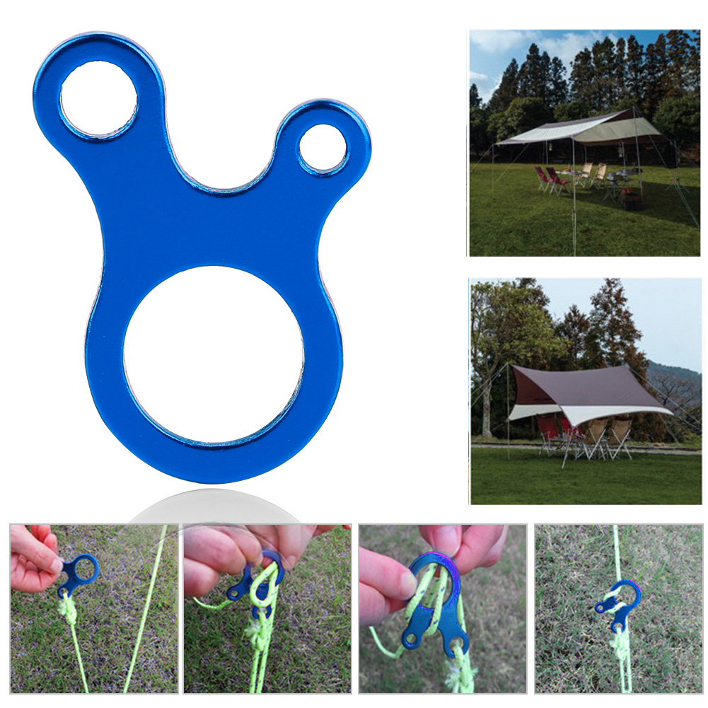 10x-3-Hole-Quick-Knot-Tent-Wind-Rope-Buckle-Anti-slip-Tightening-Hook-Camping-SD