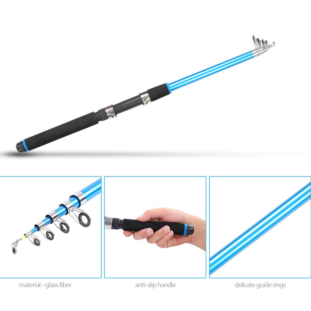 Outdoor-Mini-Glass-Fiber-Telescopic-Fishing-Pole-Ultra-light-Fishing-Rod-Durable thumbnail 16