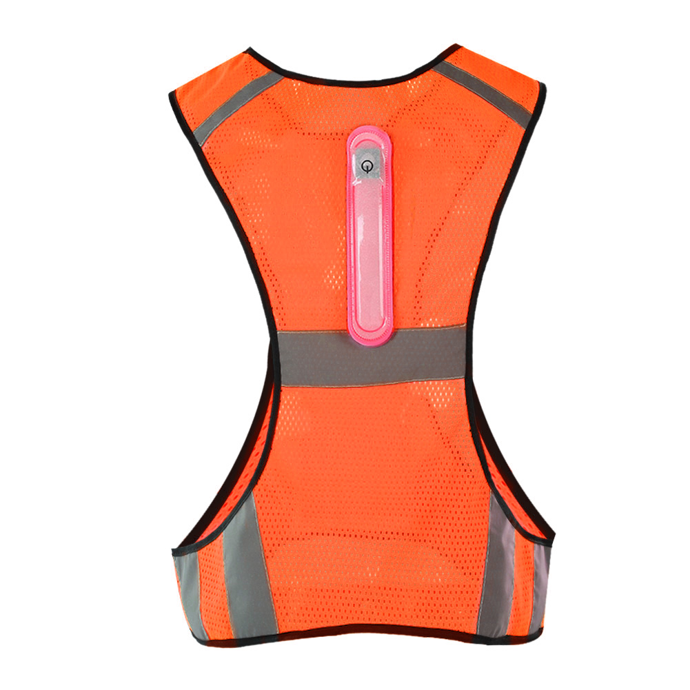 Cycling Outdoor Cycling Vest Breathable Comfortable Soft Safety Working Activities Night High Visibility Led Reflective Stripes Running Cycling Vest