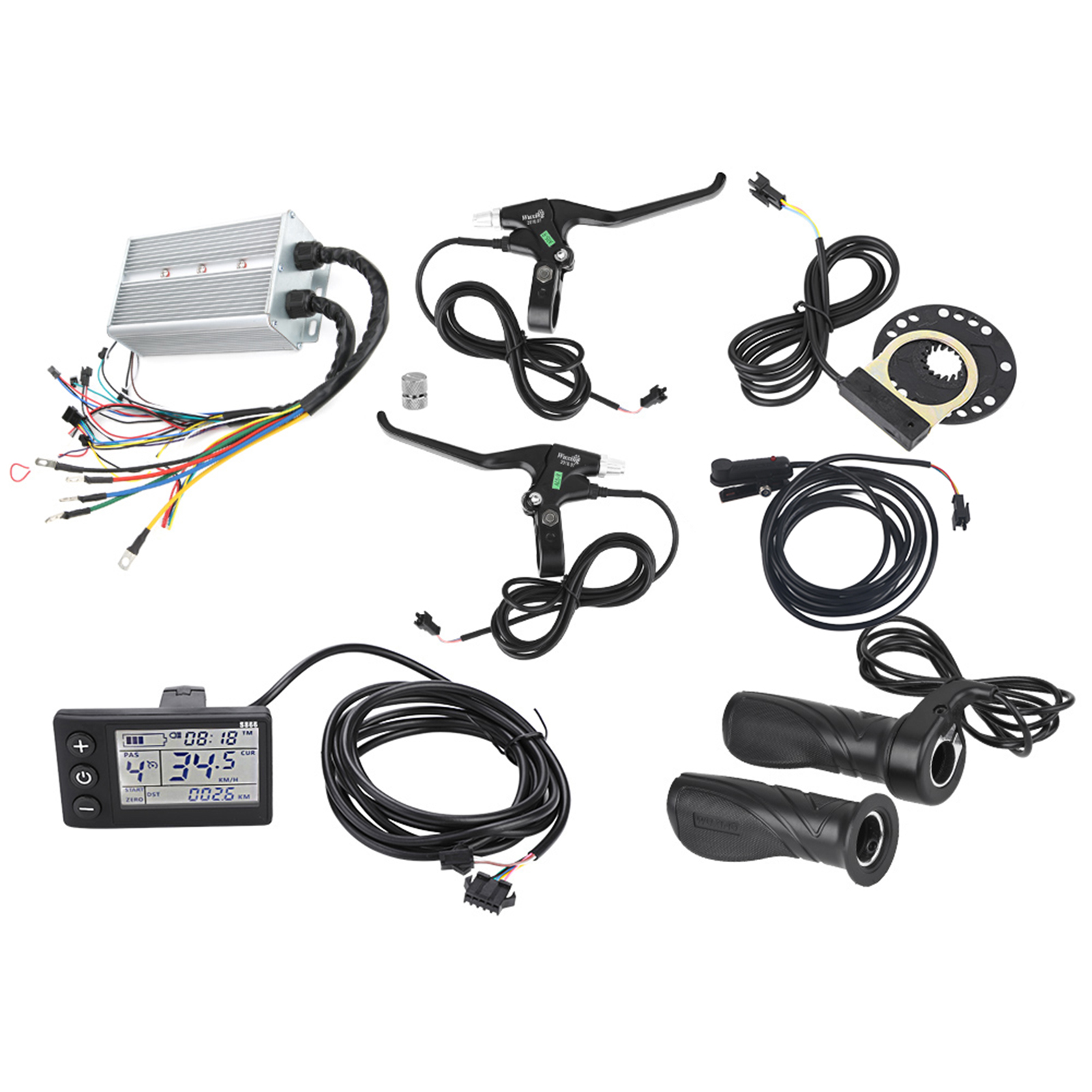 24V-36V-48V-1500W-Brushless-Motor-E-bike-Speed-Controller-LCD-Panel-Kit-Scooter