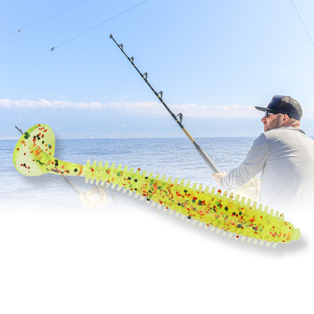 5PCS-Soft-T-Tail-Fishing-Lures-Grub-Worm-Baits-Fishing-Tackle-Accessories-New thumbnail 13