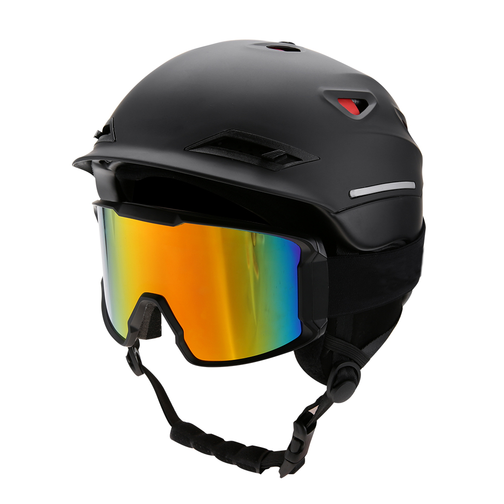 Ski-Snowboard-Helmet-With-Visor-Goggles-Outdoor-Sports-Adjustable-Head-Protector thumbnail 29