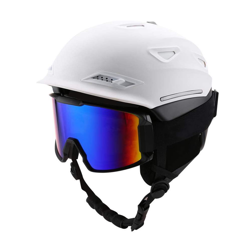 Ski-Snowboard-Helmet-With-Visor-Goggles-Outdoor-Sports-Adjustable-Head-Protector thumbnail 39