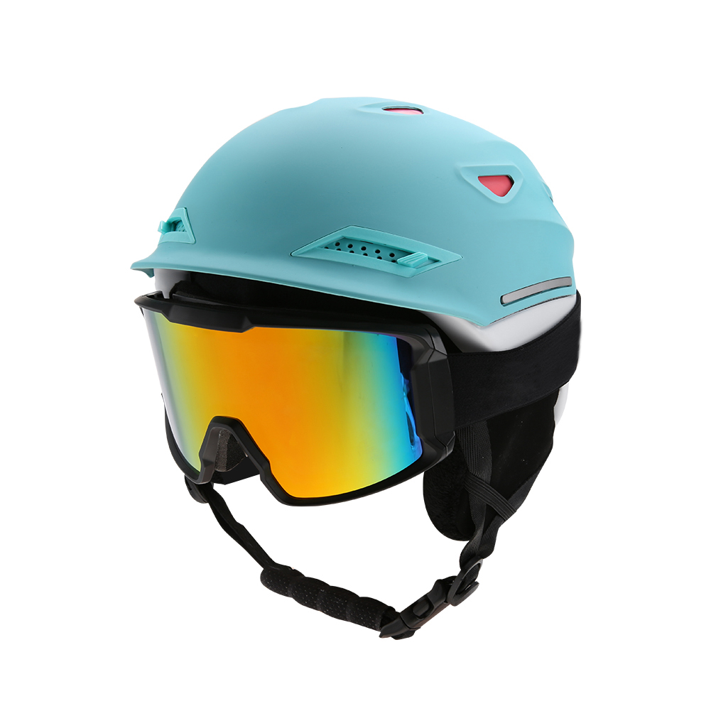Ski-Snowboard-Helmet-With-Visor-Goggles-Outdoor-Sports-Adjustable-Head-Protector thumbnail 57