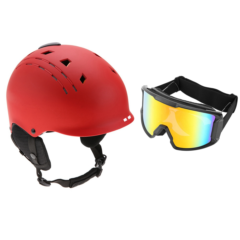 Ski-Snowboard-Helmet-With-Visor-Goggles-Outdoor-Sports-Adjustable-Head-Protector thumbnail 71