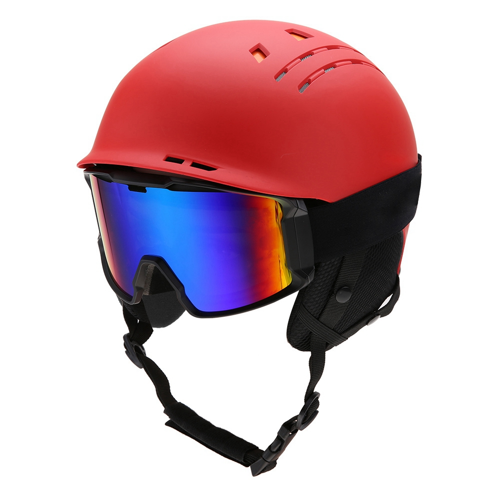 Ski-Snowboard-Helmet-With-Visor-Goggles-Outdoor-Sports-Adjustable-Head-Protector thumbnail 73
