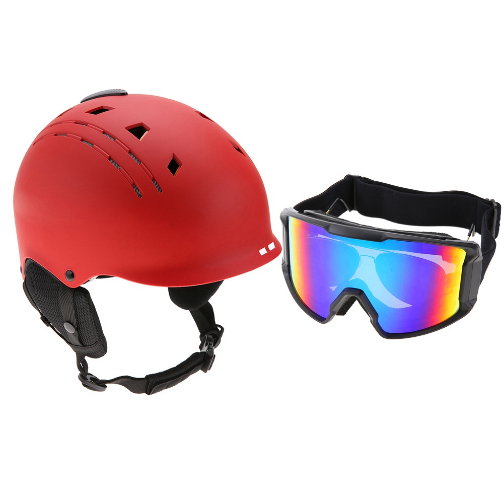 Ski-Snowboard-Helmet-With-Visor-Goggles-Outdoor-Sports-Adjustable-Head-Protector thumbnail 74