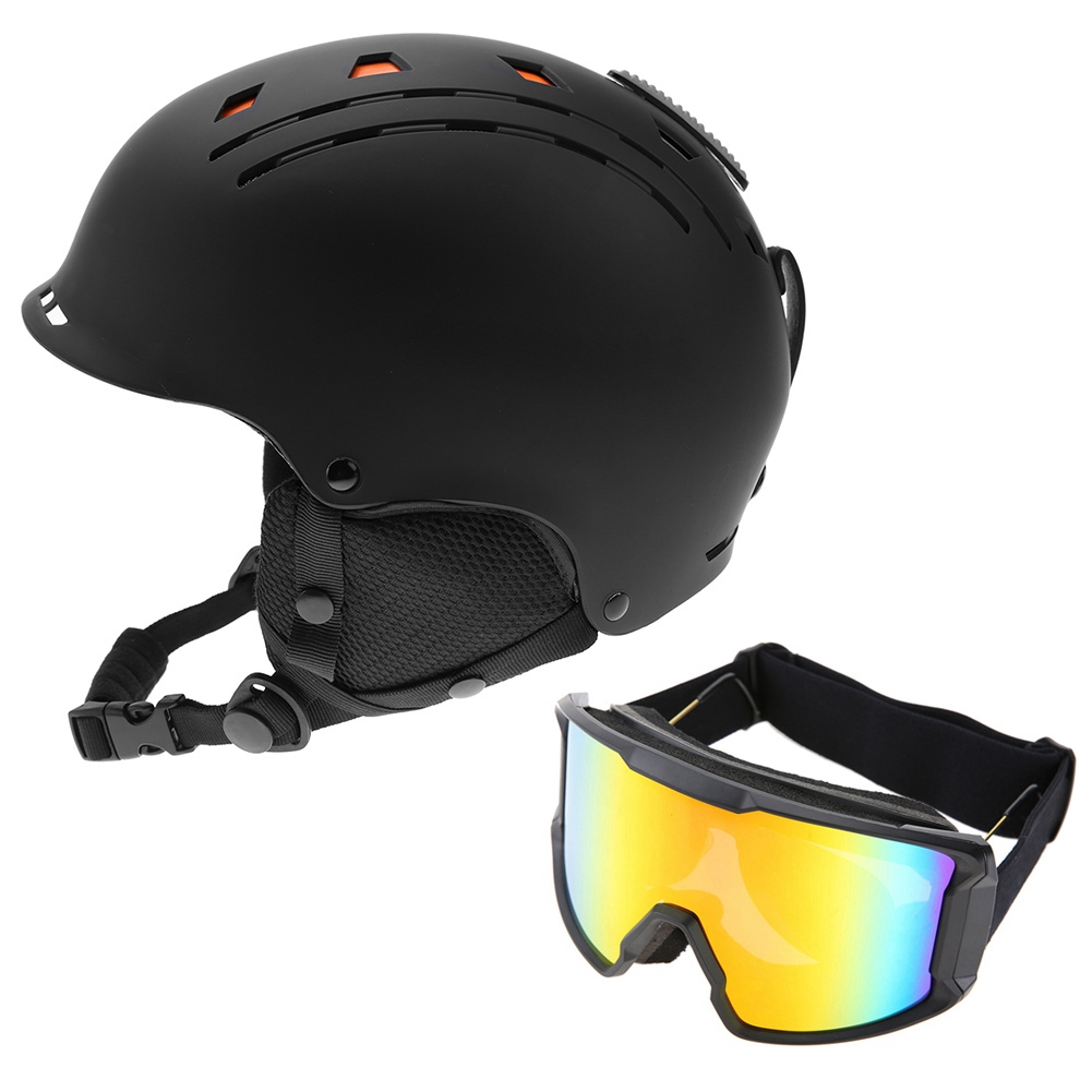 Ski-Snowboard-Helmet-With-Visor-Goggles-Outdoor-Sports-Adjustable-Head-Protector thumbnail 78
