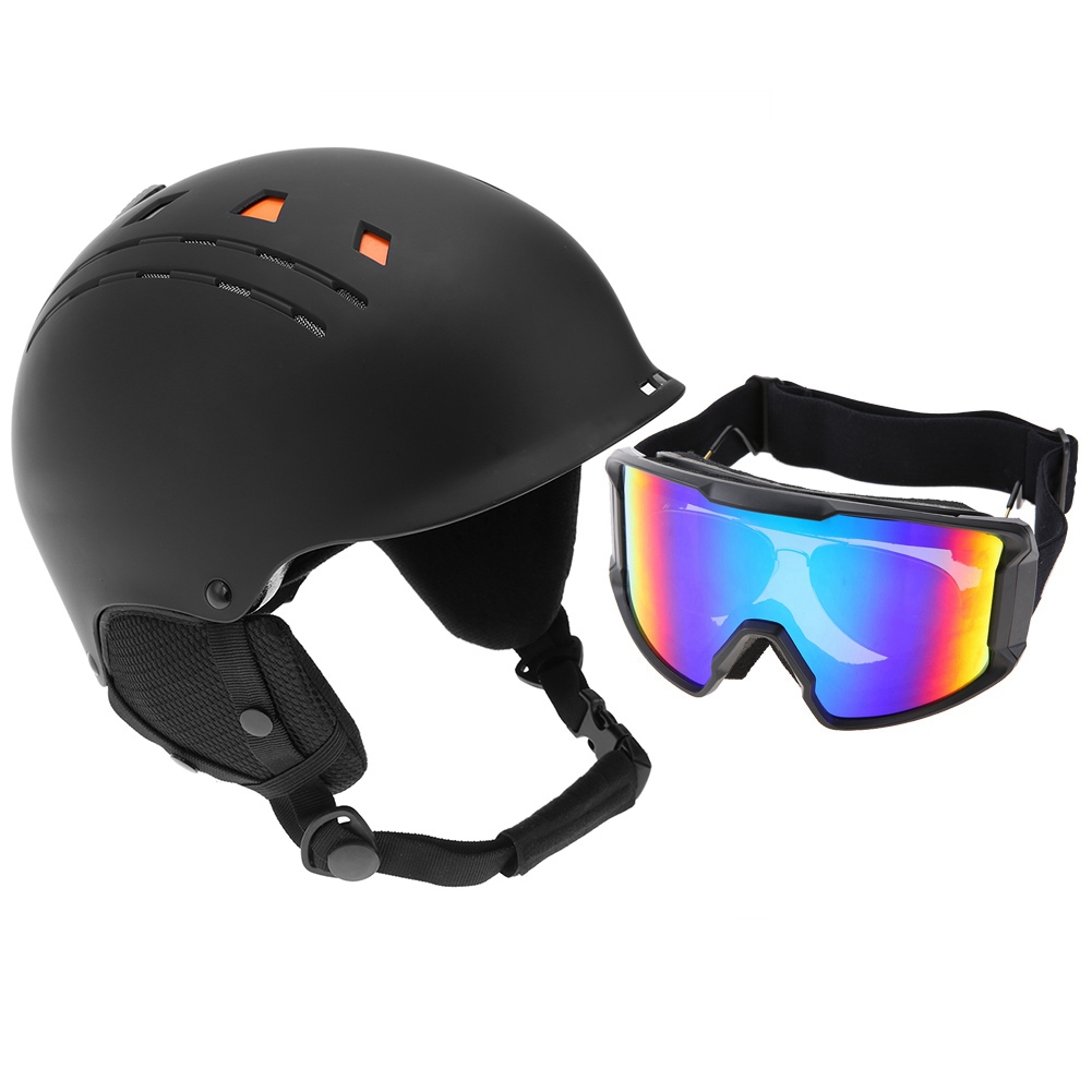 Ski-Snowboard-Helmet-With-Visor-Goggles-Outdoor-Sports-Adjustable-Head-Protector thumbnail 80