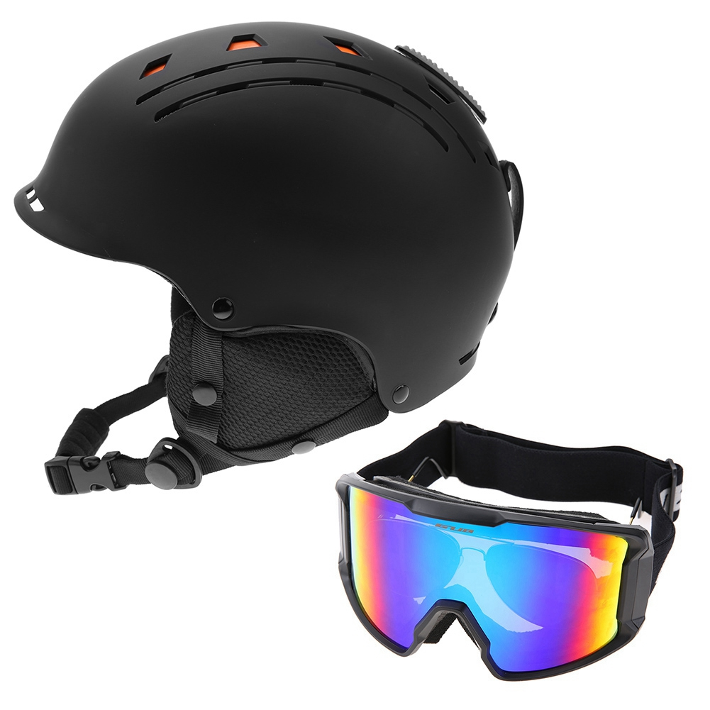 Ski-Snowboard-Helmet-With-Visor-Goggles-Outdoor-Sports-Adjustable-Head-Protector thumbnail 81
