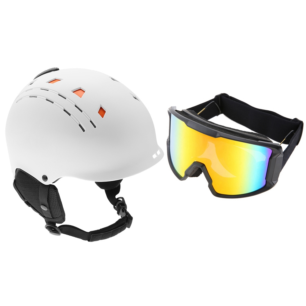 Ski-Snowboard-Helmet-With-Visor-Goggles-Outdoor-Sports-Adjustable-Head-Protector thumbnail 83