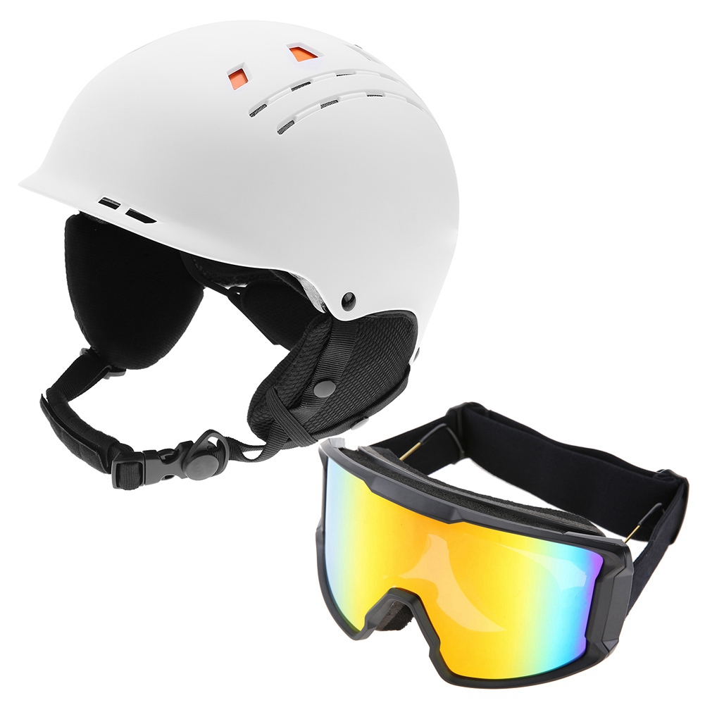 Ski-Snowboard-Helmet-With-Visor-Goggles-Outdoor-Sports-Adjustable-Head-Protector thumbnail 84