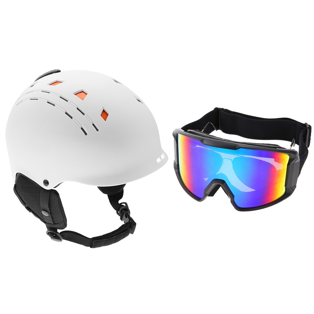 Ski-Snowboard-Helmet-With-Visor-Goggles-Outdoor-Sports-Adjustable-Head-Protector thumbnail 86