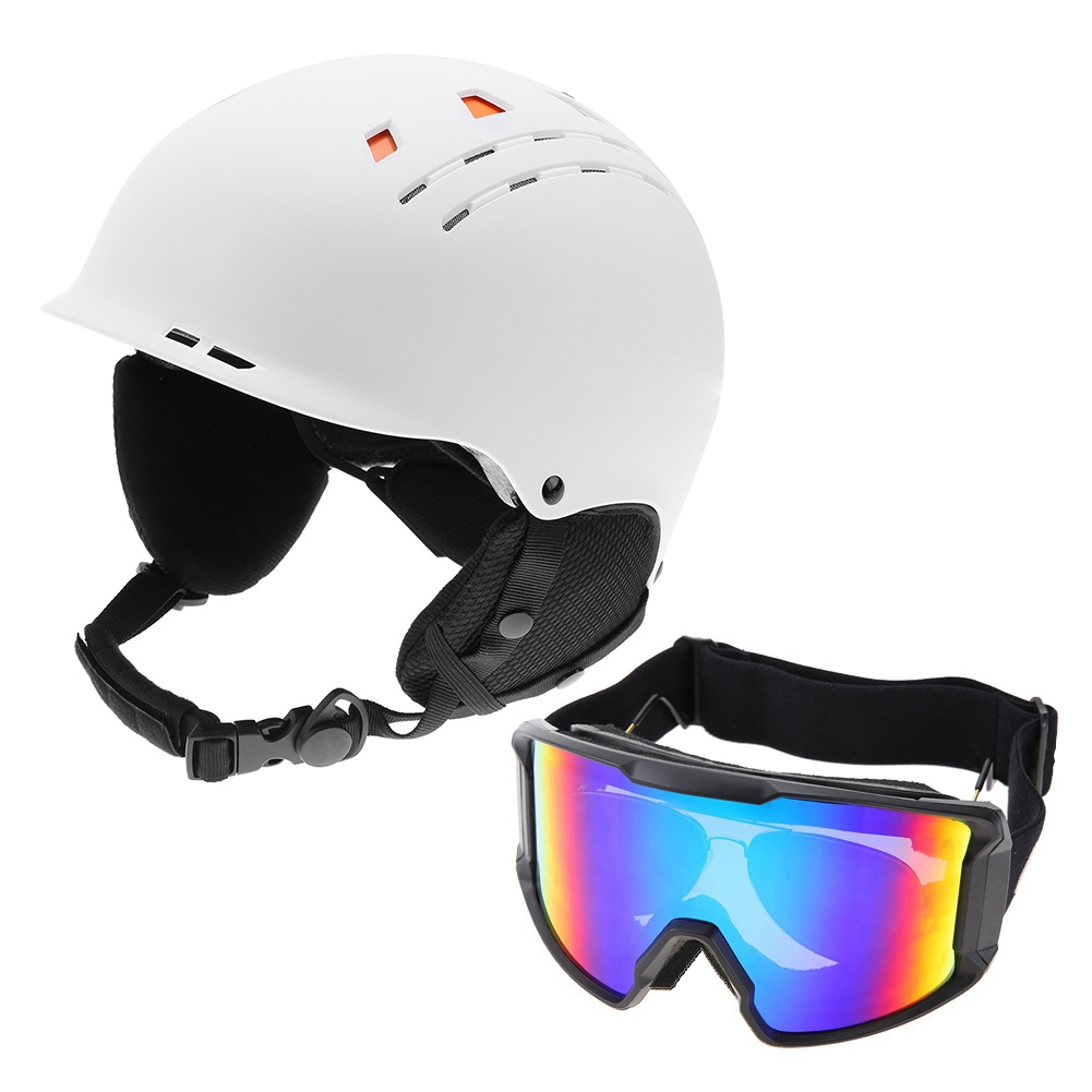 Ski-Snowboard-Helmet-With-Visor-Goggles-Outdoor-Sports-Adjustable-Head-Protector thumbnail 87