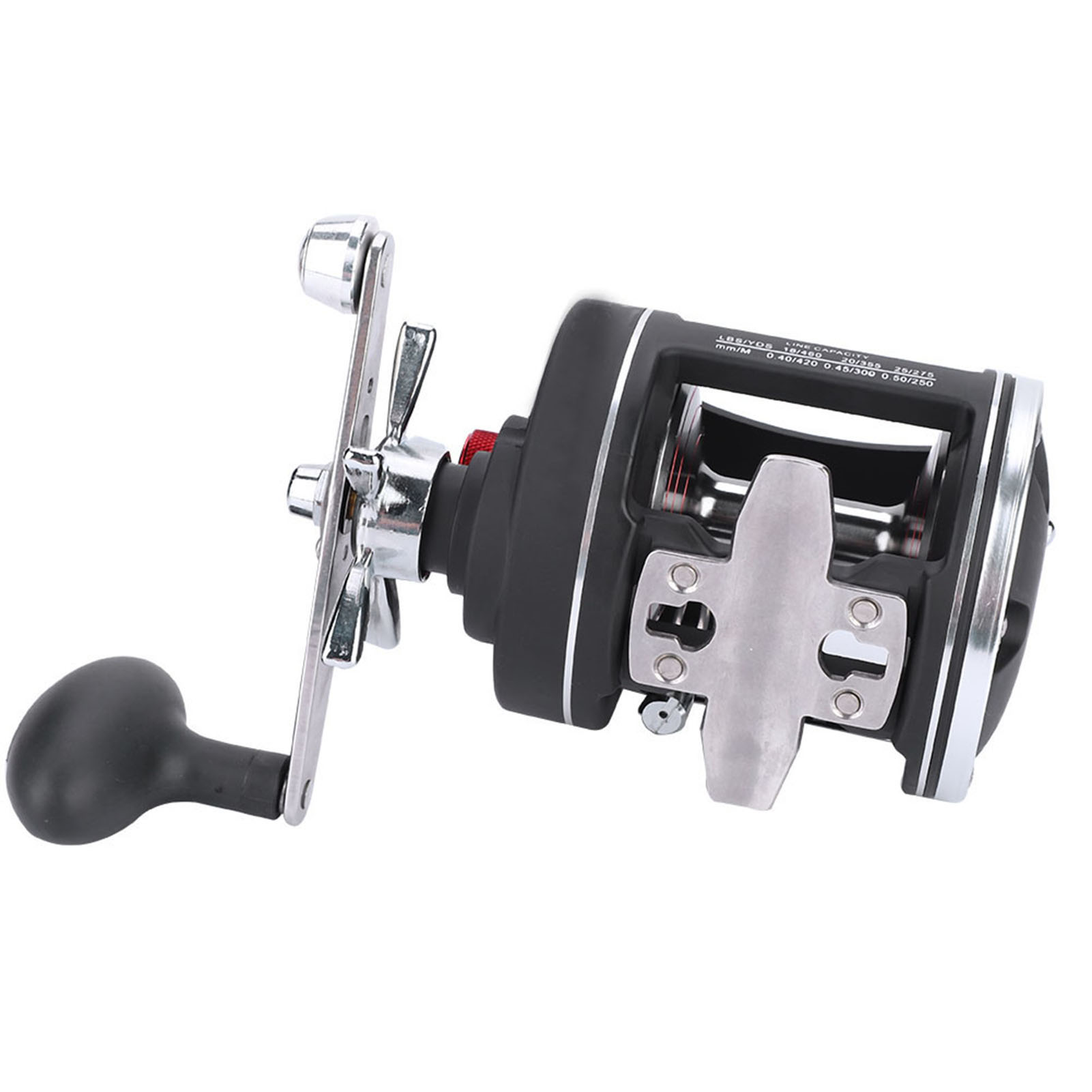 12BBTrolling Reel Counter Saltwater Sea Fishing Boat Fishing Sea Conventional Drum with Line af7fa1