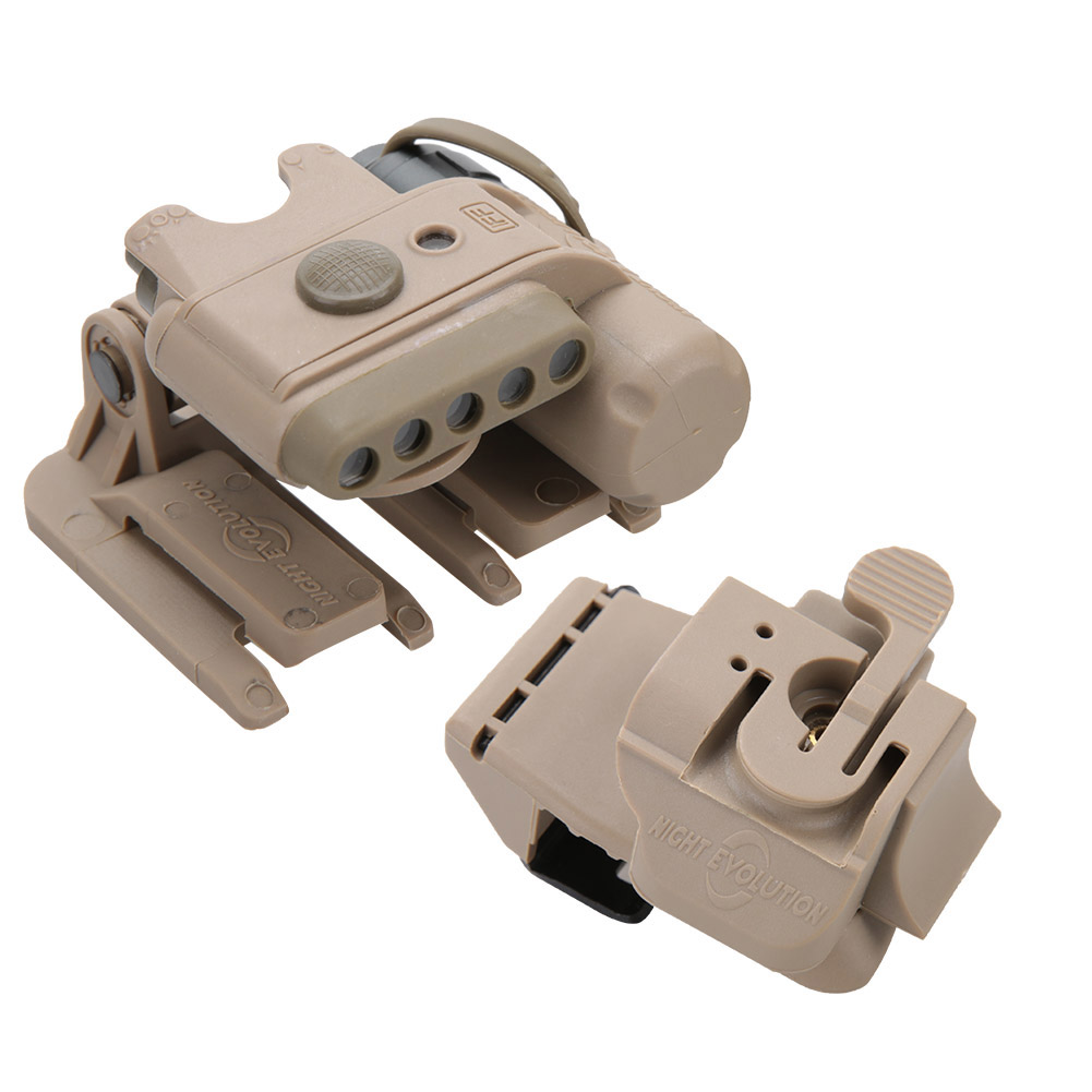 Military Multicam Tactical Head Torch/&Helmet Light Red//White//IR LED Flashligh e3