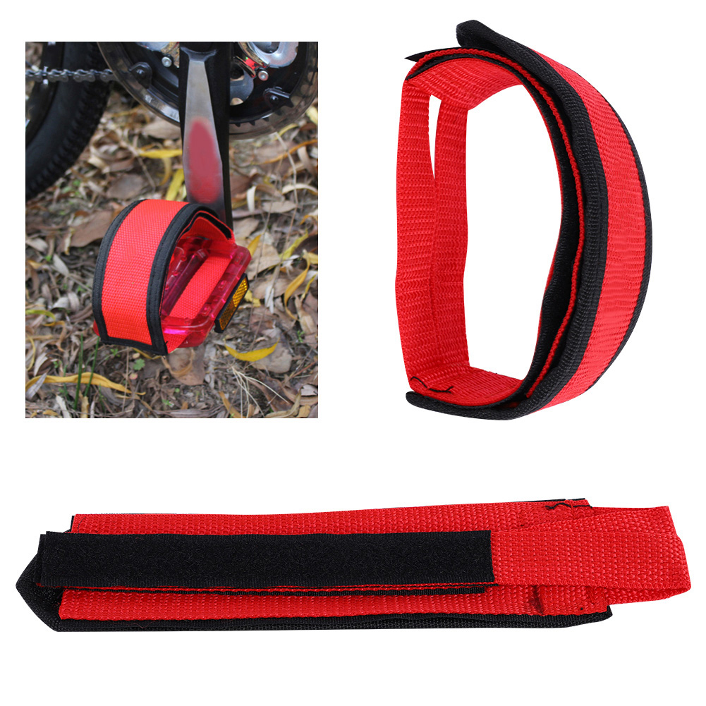 1-Pair-Fixed-Gear-Road-Bike-Bicycle-Cycling-Adhesive-Pedal-Toe-Clip-Strap-Belt thumbnail 19