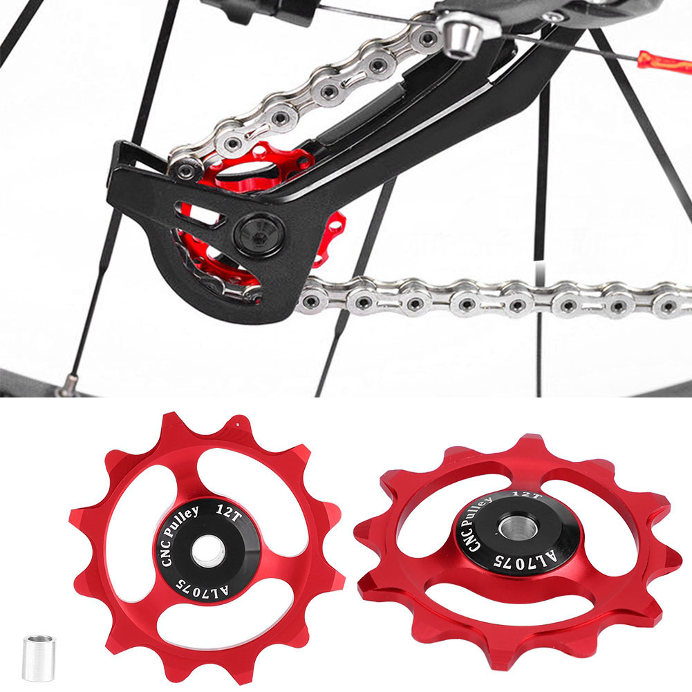 11-12-13T-14T-Mountain-Bike-Bicycle-Bearing-Jockey-Wheel-Rear-Derailleur-Pulleys thumbnail 24