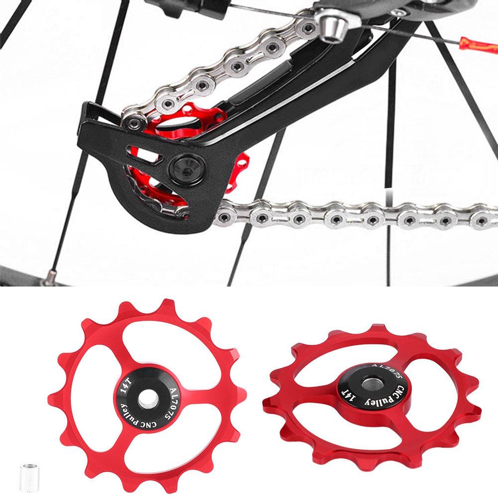 11-12-13T-14T-Mountain-Bike-Bicycle-Bearing-Jockey-Wheel-Rear-Derailleur-Pulleys thumbnail 18