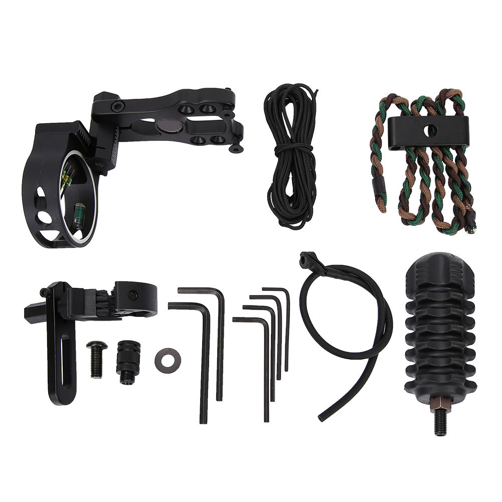 TP1000-Archery-Combo-Bow-Sight-Kits-Arrow-Rest-Stabilizer-Compound-Bow-Accessory thumbnail 12