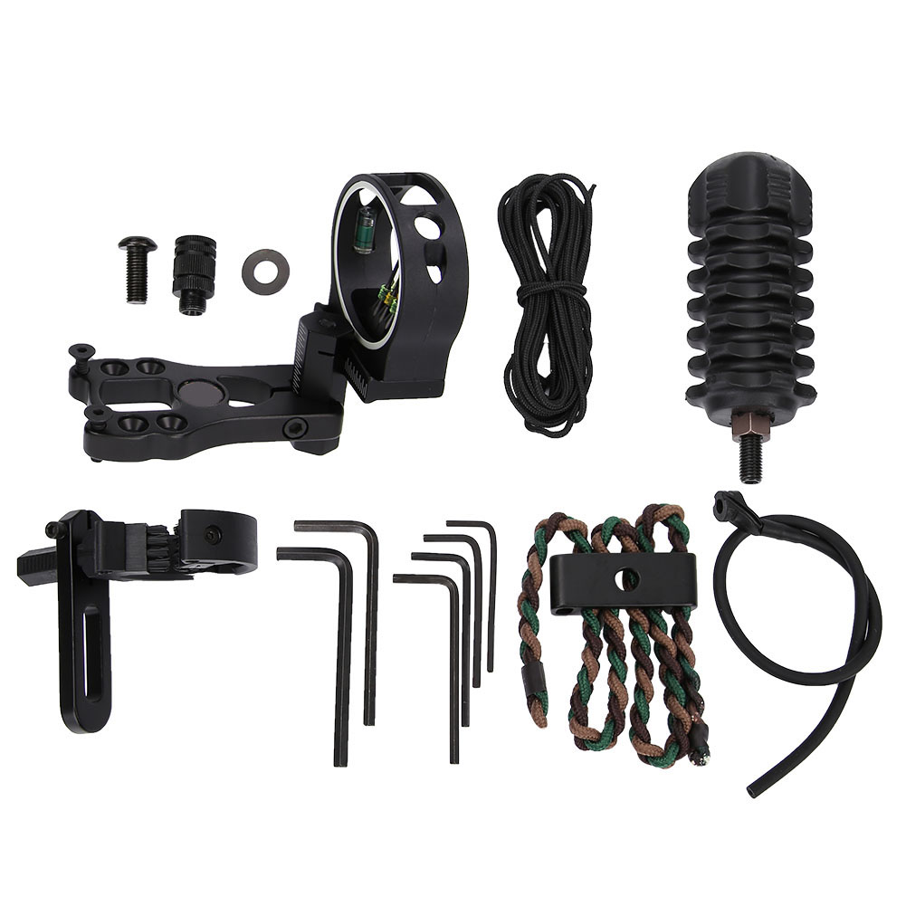 TP1000-Archery-Combo-Bow-Sight-Kits-Arrow-Rest-Stabilizer-Compound-Bow-Accessory thumbnail 13