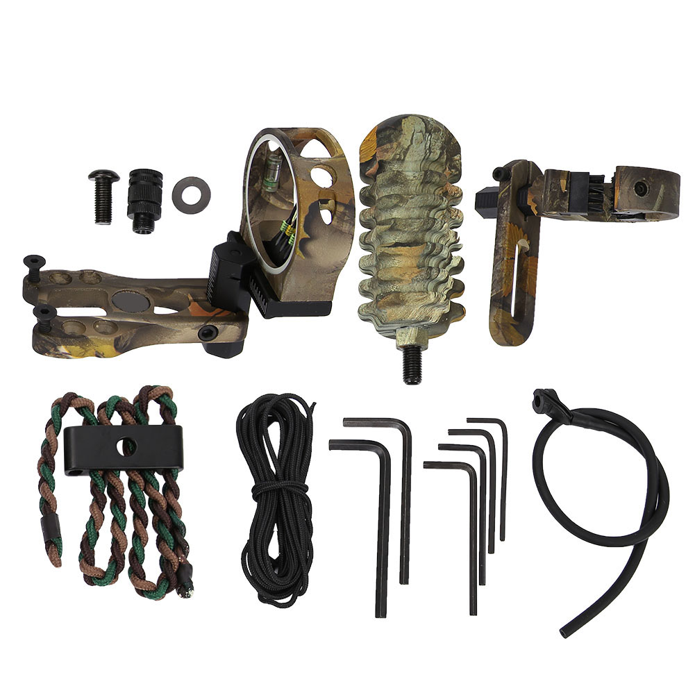TP1000-Archery-Combo-Bow-Sight-Kits-Arrow-Rest-Stabilizer-Compound-Bow-Accessory thumbnail 15