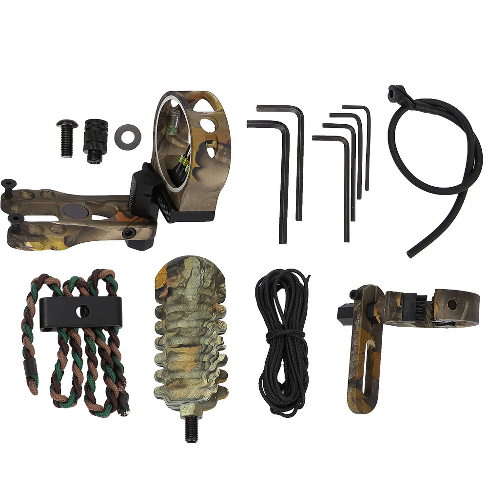 TP1000-Archery-Combo-Bow-Sight-Kits-Arrow-Rest-Stabilizer-Compound-Bow-Accessory thumbnail 16