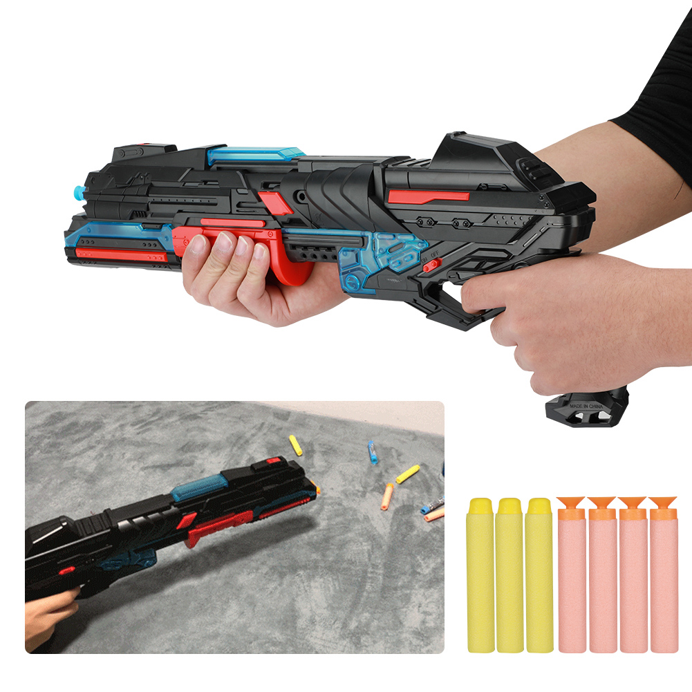 Kids Kids Kids Outdoor Playing Games Soft Bullet Toy with LED Light Rifle for Shooting BS 882979