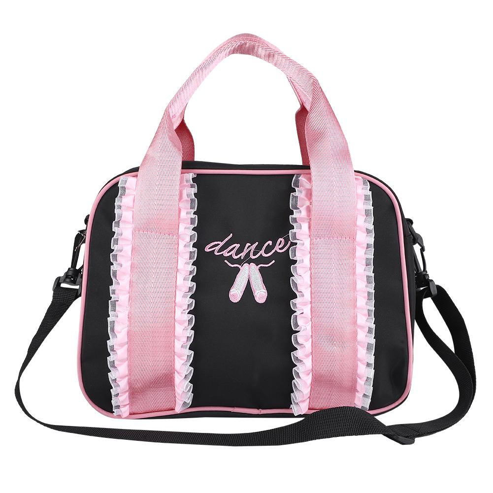 Kids-Girls-Embroidered-Sequined-Handbag-Shoulder-Bag-Tote-For-Sport-Dance-Ballet miniature 17