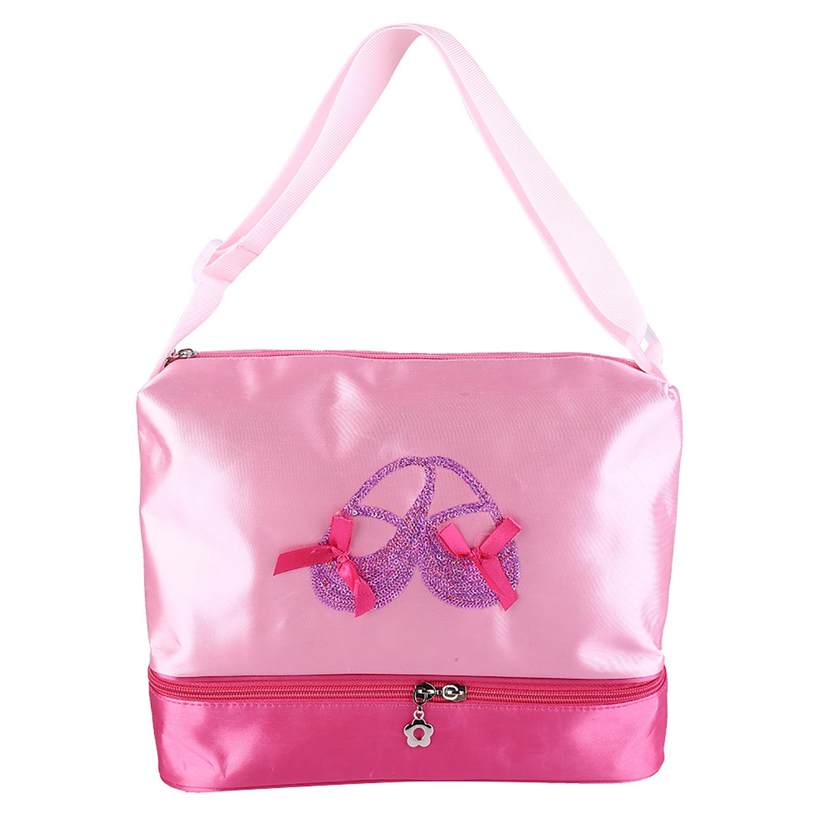 Kids-Girls-Embroidered-Sequined-Handbag-Shoulder-Bag-Tote-For-Sport-Dance-Ballet miniature 20