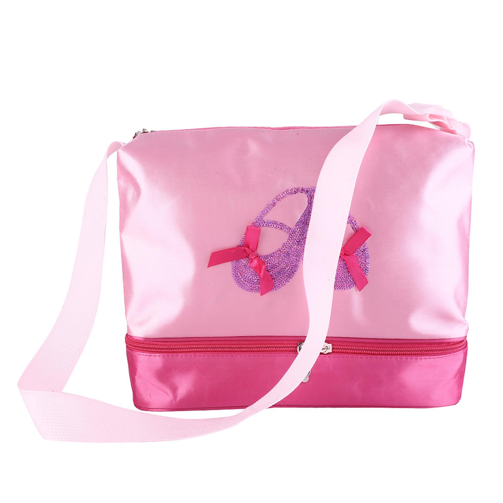 Kids-Girls-Embroidered-Sequined-Handbag-Shoulder-Bag-Tote-For-Sport-Dance-Ballet miniature 21