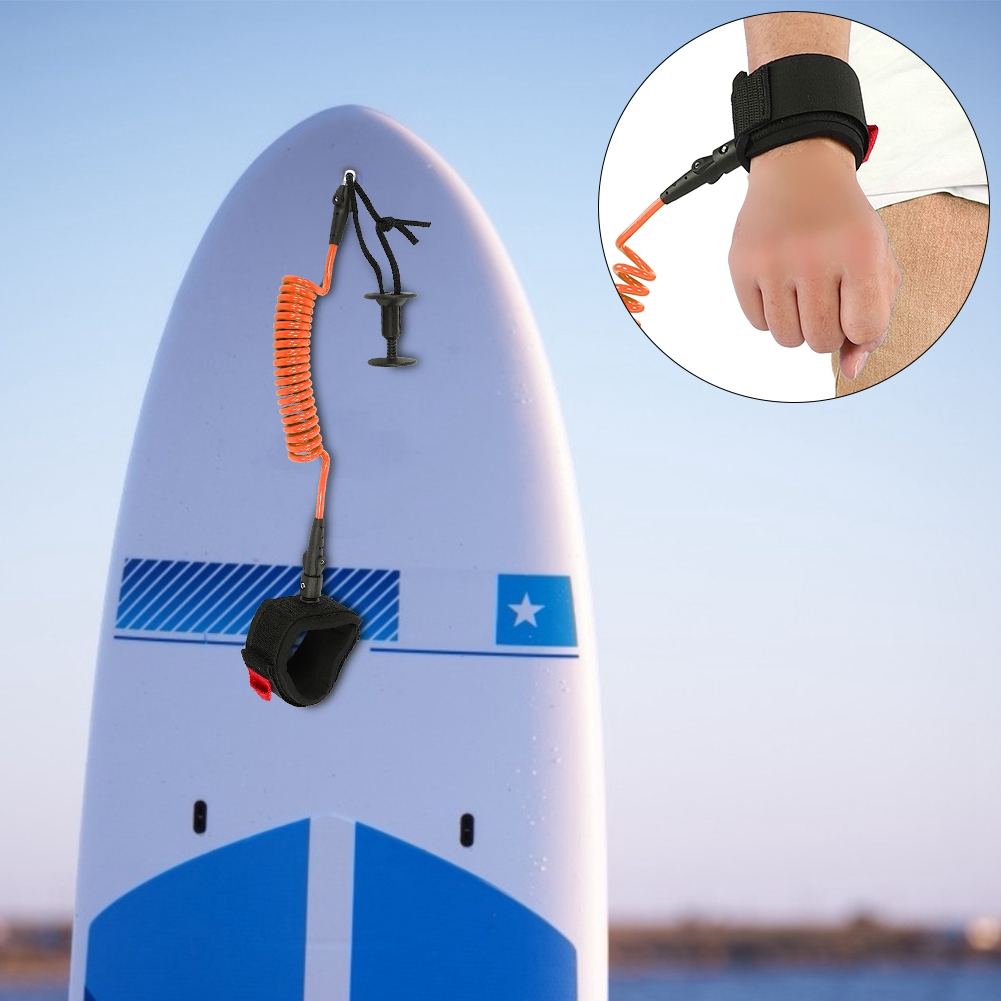 Body Board Leash 5 Ft 5.5mm Coiled Wrist Bicep Leash for Surfboard Surfing