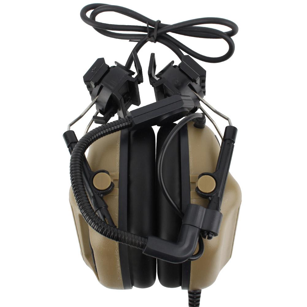 Outdoor-Waterproof-Tactics-Microphone-Earphone-Headset-for-CS-Combats-Hunting thumbnail 15