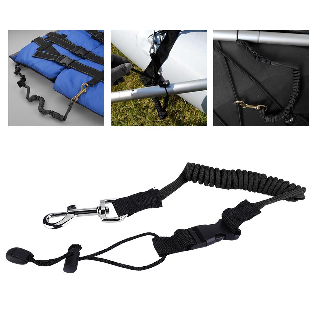140cm Elastic Kayak Canoe Safety Paddle Leash for Kayaking Canoeing Paddling❤V