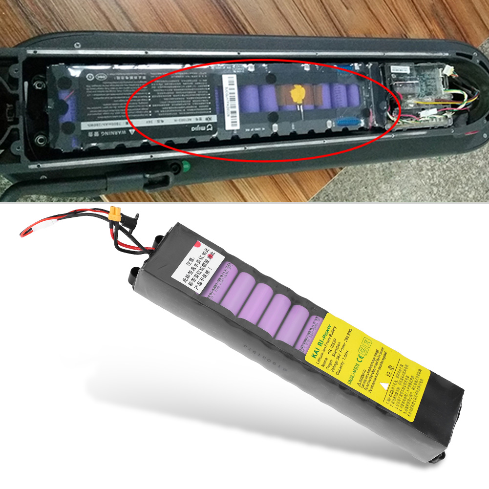 Fast-Charging-Rechargeable-36V-6-6-7-8AH-Lithium-Battery-for-1-1-1-2-E-Scooter thumbnail 14