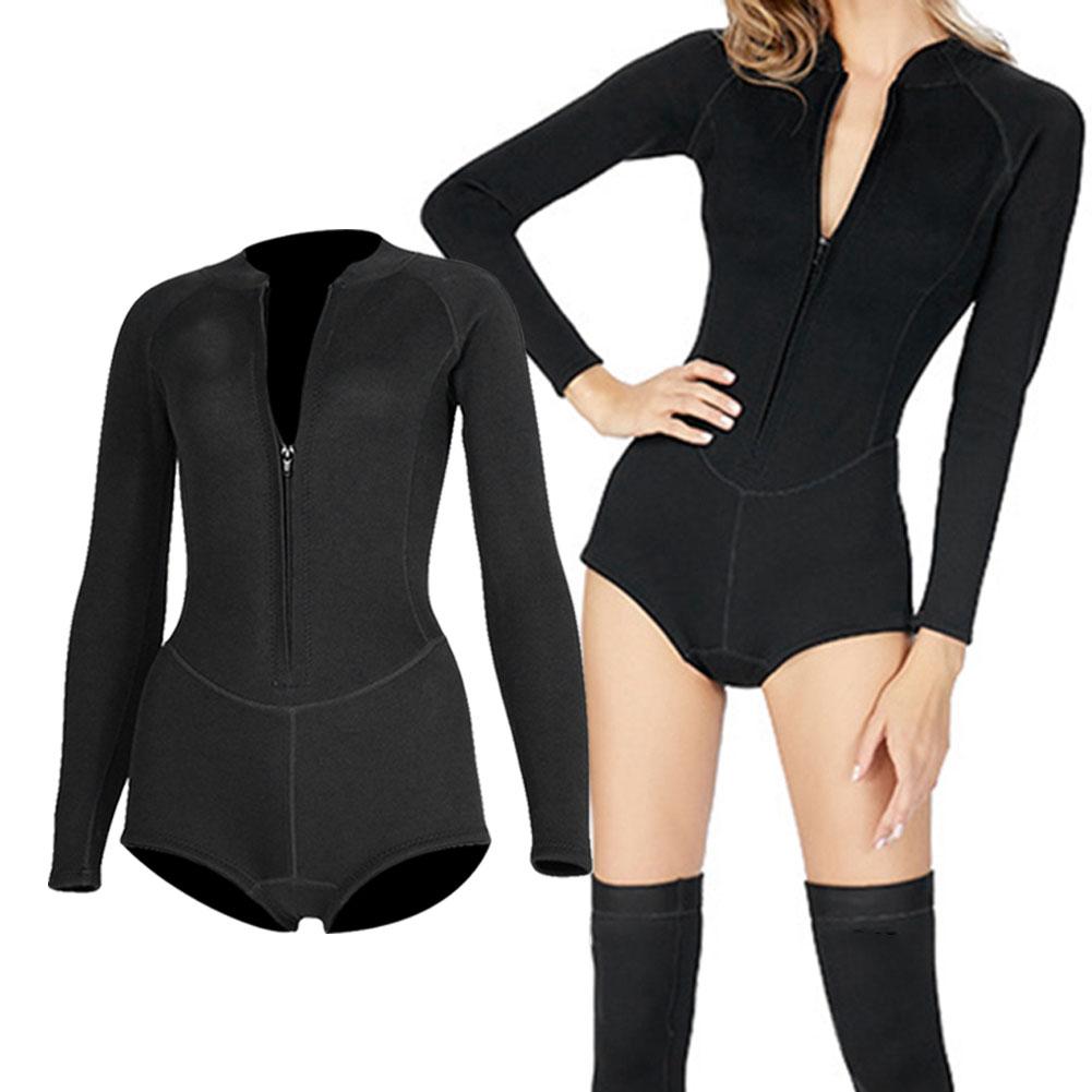 SLINX-Women-Bikini-Diving-Suit-Long-Sleeve-Stocking-Surfing-Wetsuit-Diving-Socks thumbnail 18